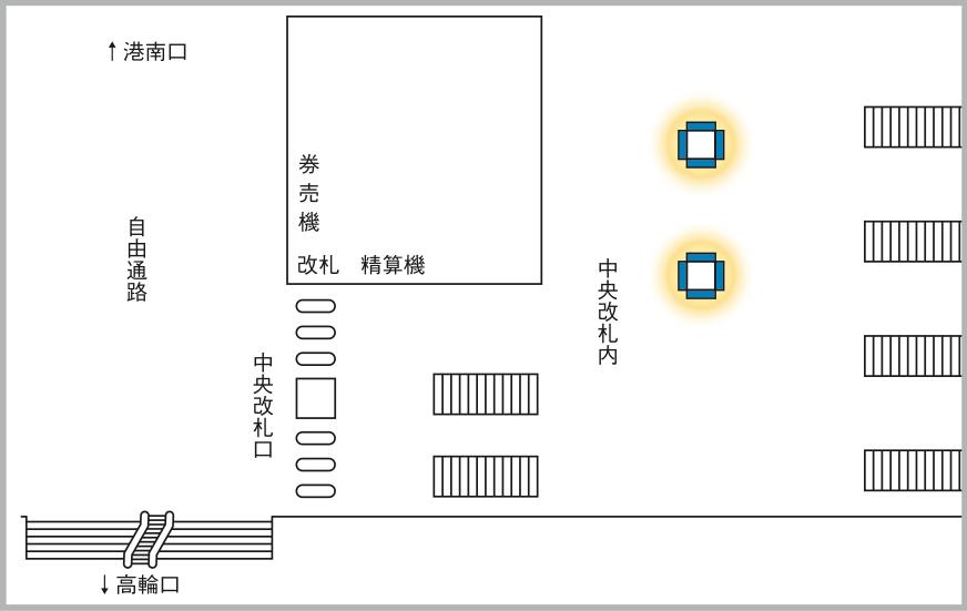 JADビジョン デジタルポスター 品川駅中央改札内65-8面