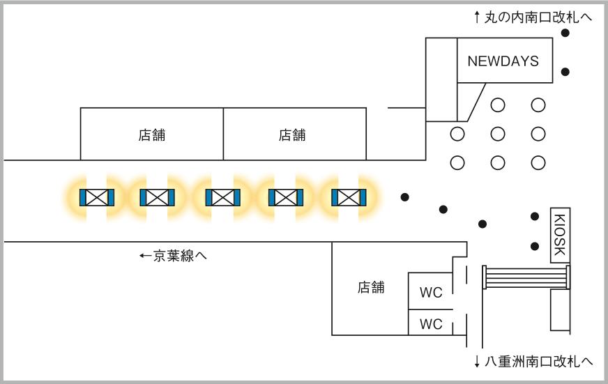 JADビジョン デジタルポスター 東京駅京葉通路