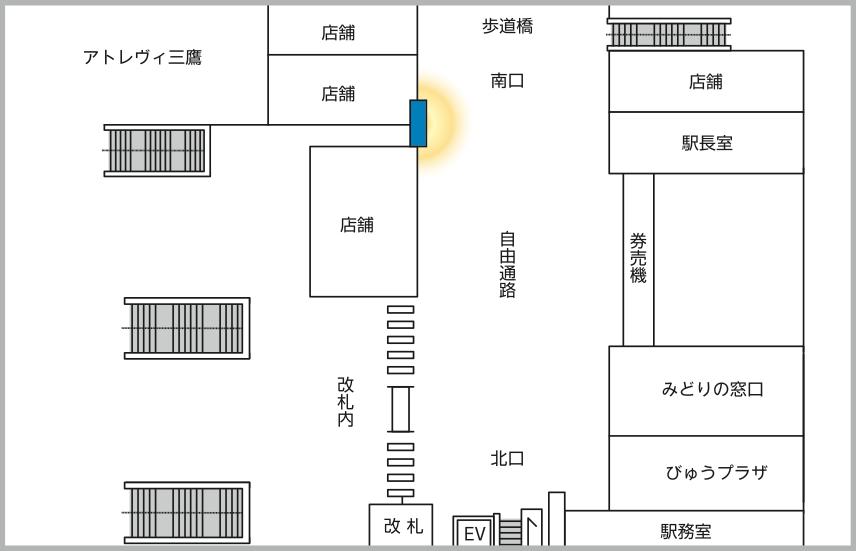 JADビジョン デジタルポスター 三鷹駅65-1面