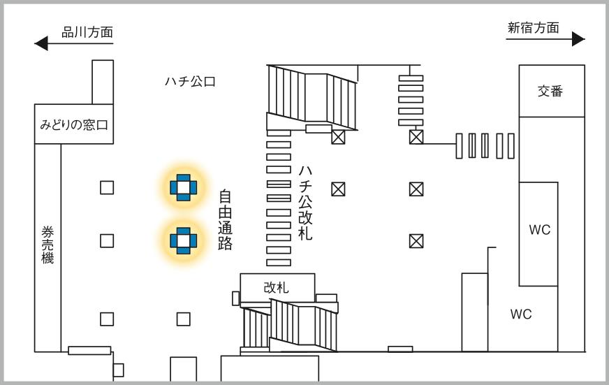 JADビジョン デジタルポスター 渋谷駅ハチ公改札65-8面