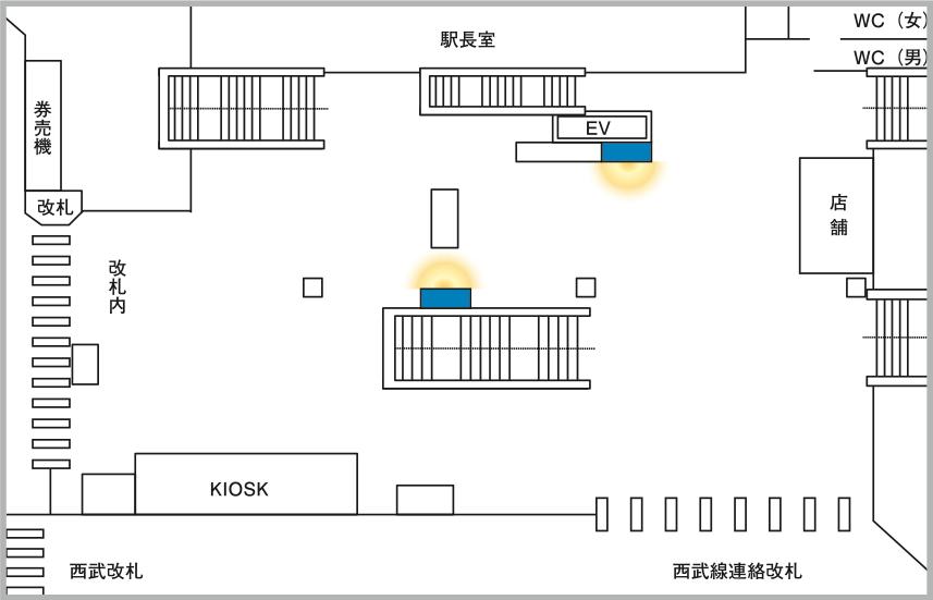 JADビジョン デジタルポスター国分寺駅65-2面