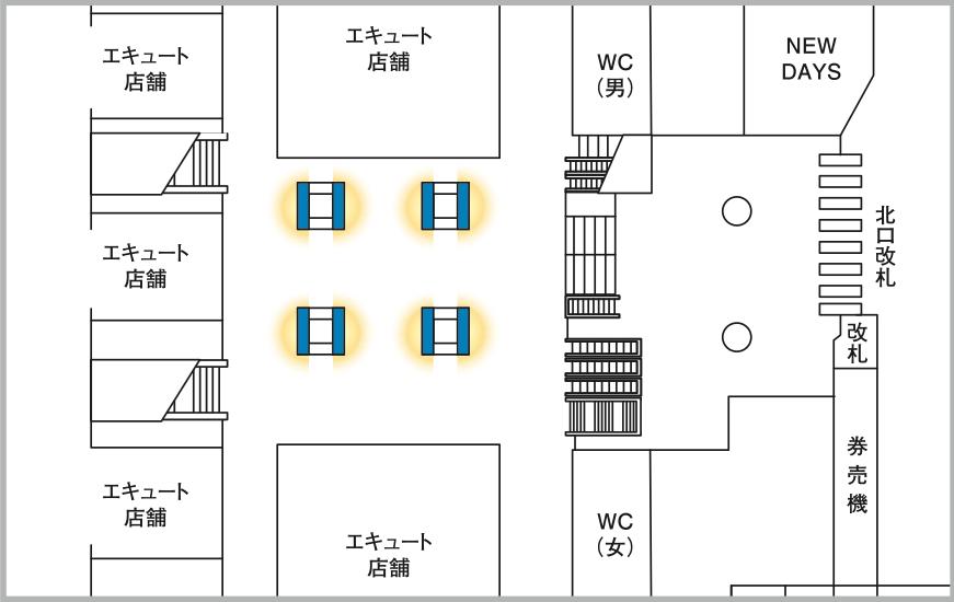 JADビジョン デジタルポスター 赤羽駅北改札口内65-8面