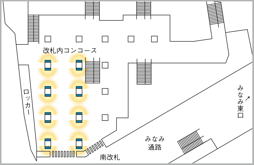 JADビジョン デジタルポスター 横浜駅南改札65-16面