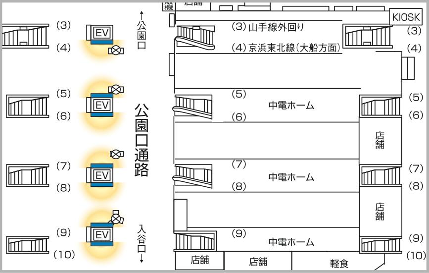 JADビジョン デジタルポスター 上野駅公園改札内65-7面