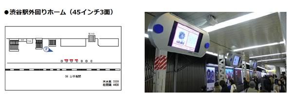 ステーションチャンネル 渋谷外回りホーム